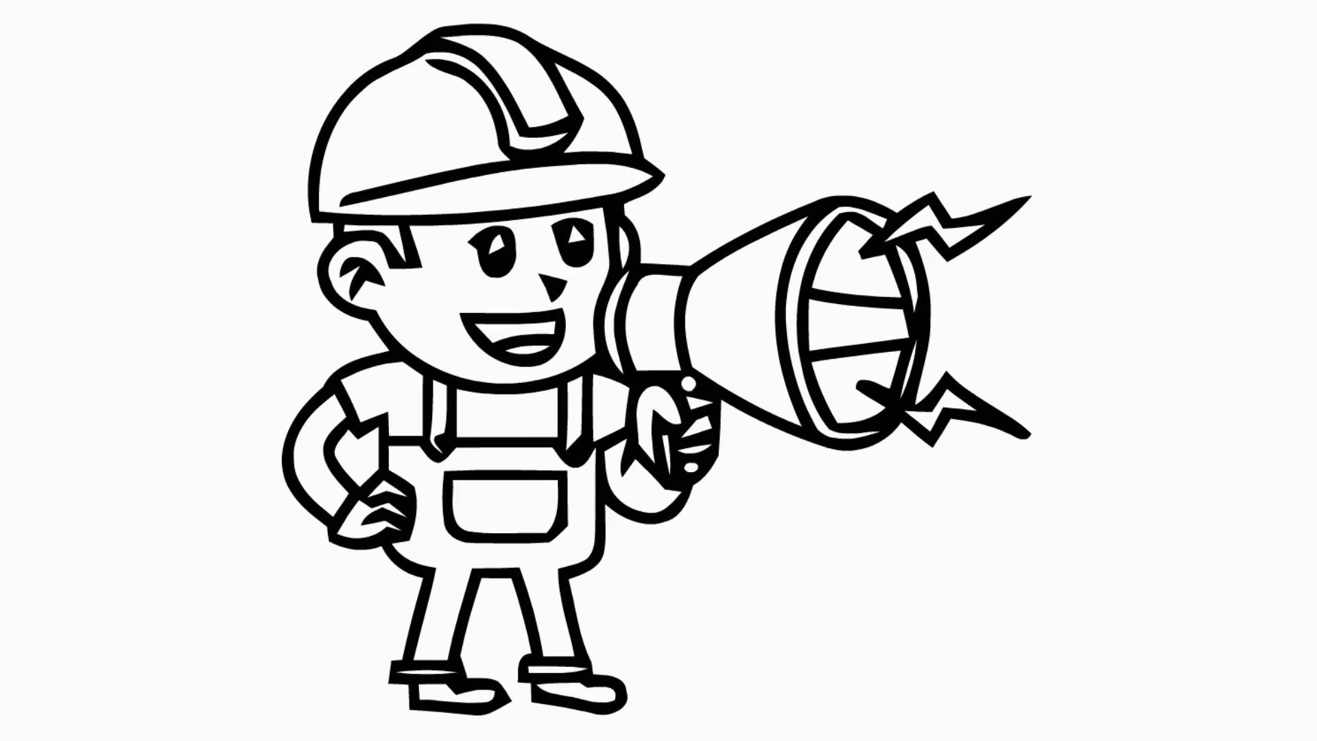 Drawn microphone animated Man Motion microphone drawn hand