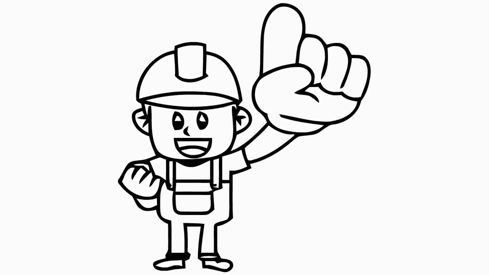Drawn microphone animated Illustration man drawn drawn