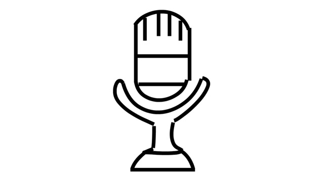 Drawn microphone animated Hand mic transparent transparent drawing