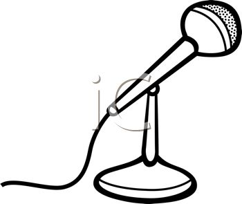 Drawn microphone animated Images Panda Black Clipart Microphone