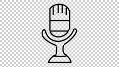 Drawn microphone animated Cartoon footage hand transparent transparent