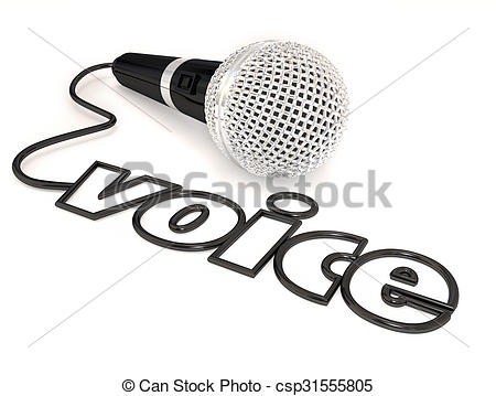 Microphone clipart cord illustration Voice Word Illustration Word Microphone