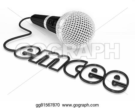 Microphone clipart cord illustration Master host word word who