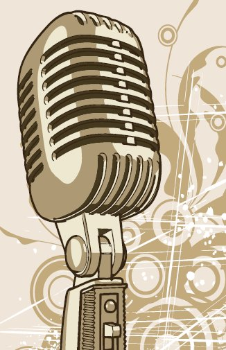 Drawn microphone karaoke I Christmas //  Pinterest