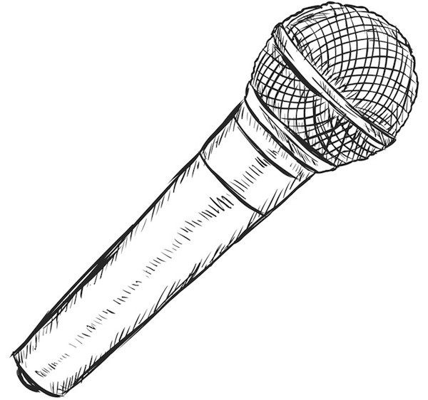 Drawn microphone karaoke 9 Karaoke WA Courage pm
