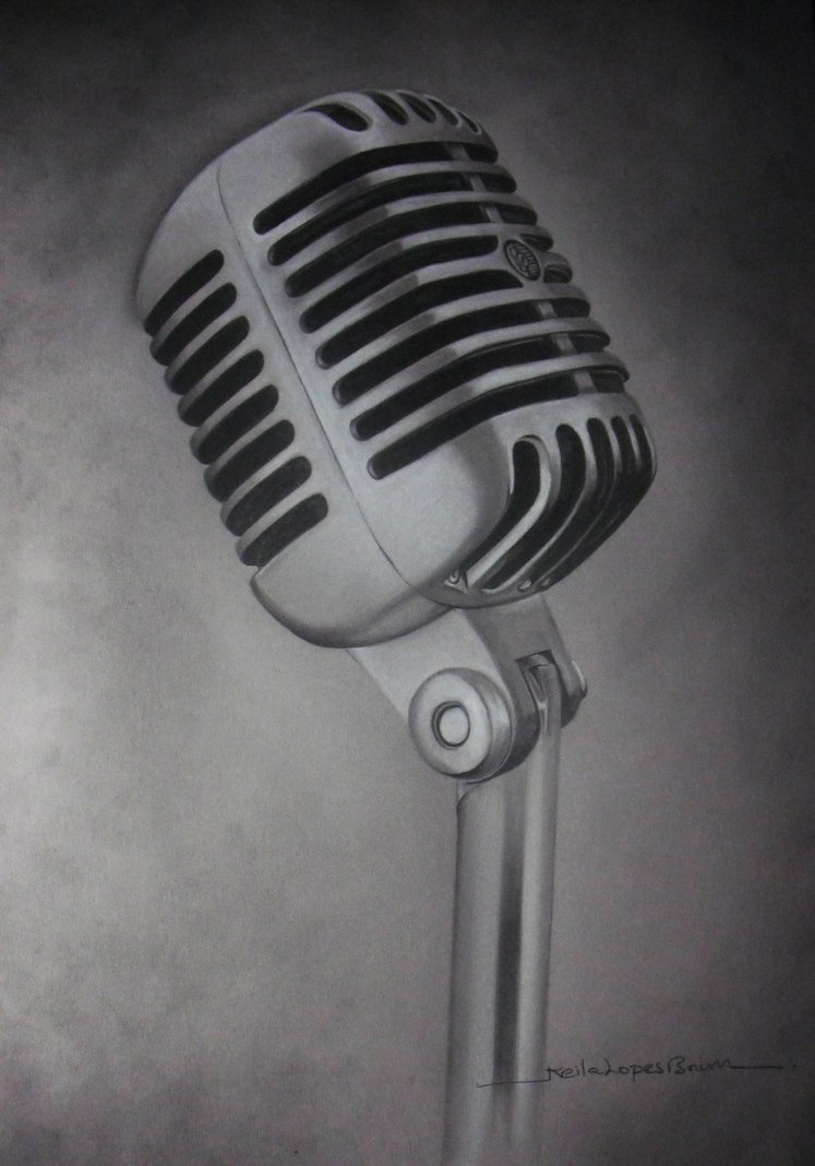 Drawn microphone old fashioned Tattoo Drawing Microphone Drawing Tattoo