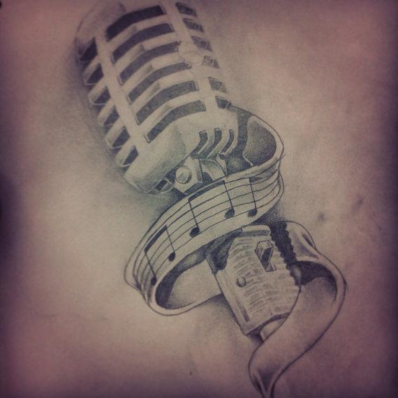 Drawn microphone rockabilly 00 inKspirationsArt 2 microphone on