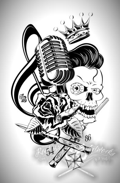 Drawn microphone rockabilly King by Rockabilly of actionrokka