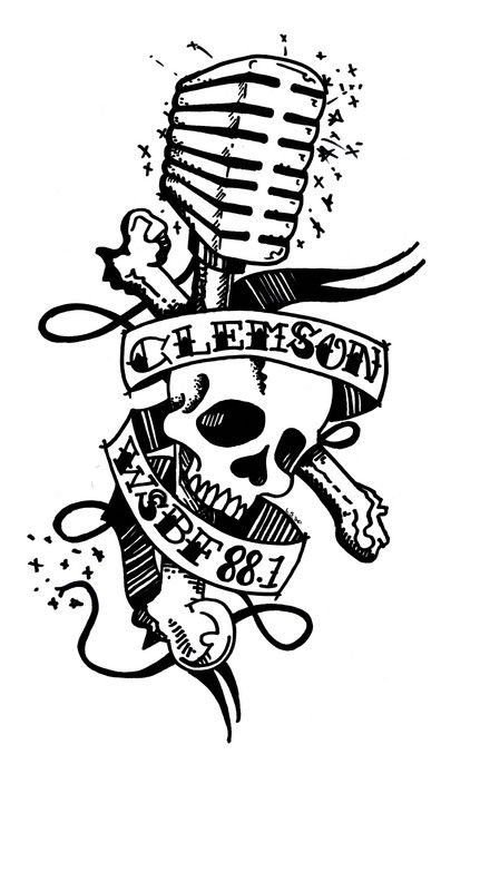 Drawn microphone skull  Tattoo best 104 images