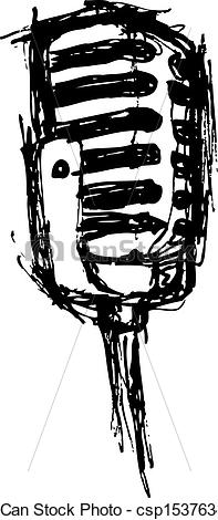 Drawn microphone vintage microphone In microphone microphone  style