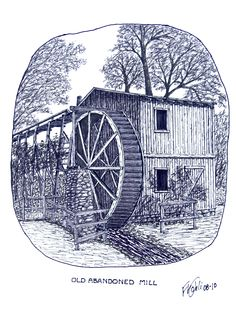 Drawn mill  by WINCHESTER mill Pen