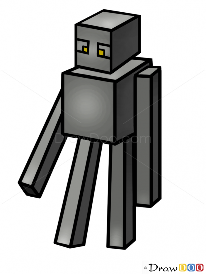 Drawn minecraft minecraft character To to Characters Enderman Draw