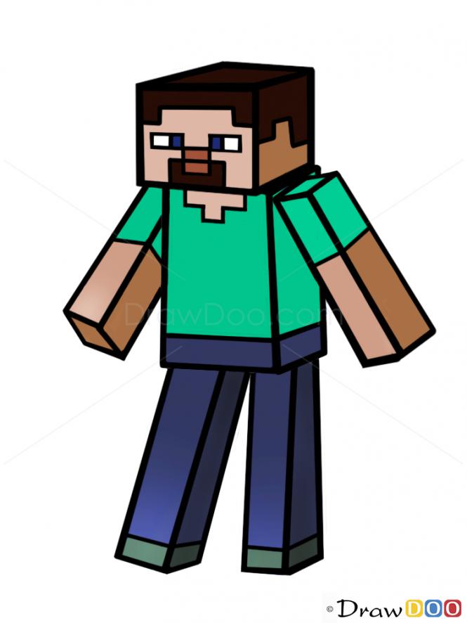 Drawn minecraft minecraft character To Draw Minecraft How Minecraft