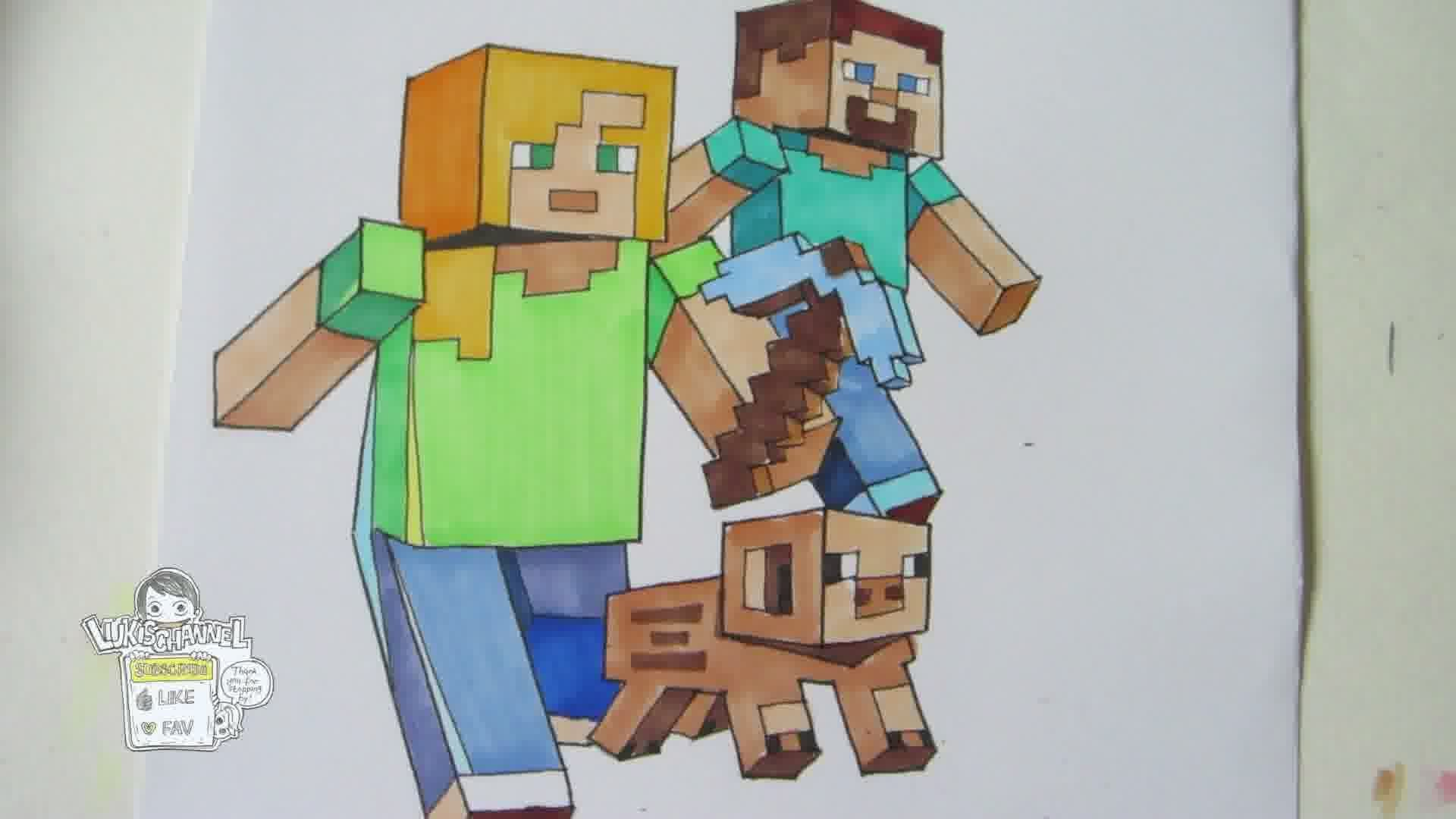 Drawn minecraft minecraft character To ruler!) ruler!) draw characters