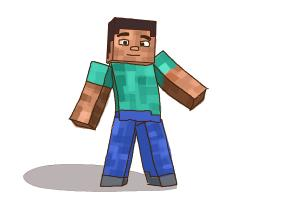 Drawn minecraft minecraft character To to Lessons Step Step