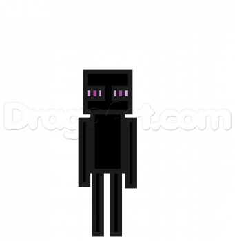Drawn minecraft minecraft enderman A To by Step To