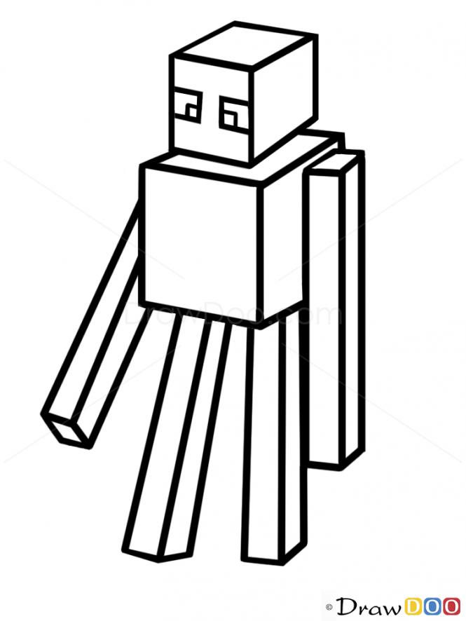 Drawn minecraft minecraft enderman Draw Draw How Characters Minecraft
