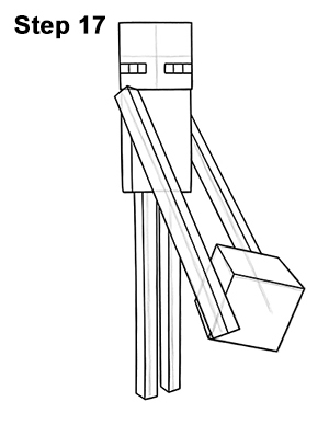 Drawn minecraft minecraft enderman 17 Enderman Minecraft (Minecraft) Draw