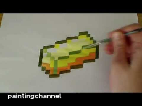 Drawn minecraft simple How to to (gold) Minecraft