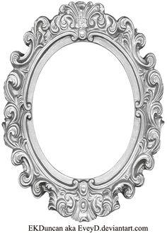 Drawn bugs ornate mirror By Frame jpg Long Oval