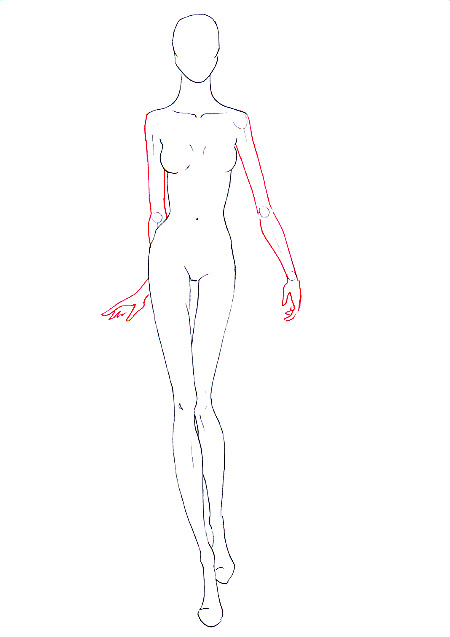 Drawn model Draw to walking fashion fashion