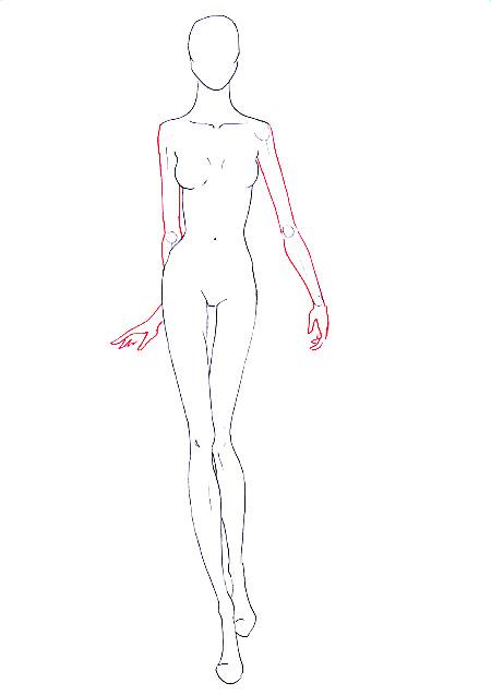 Drawn model Draw to walking fashion fashion