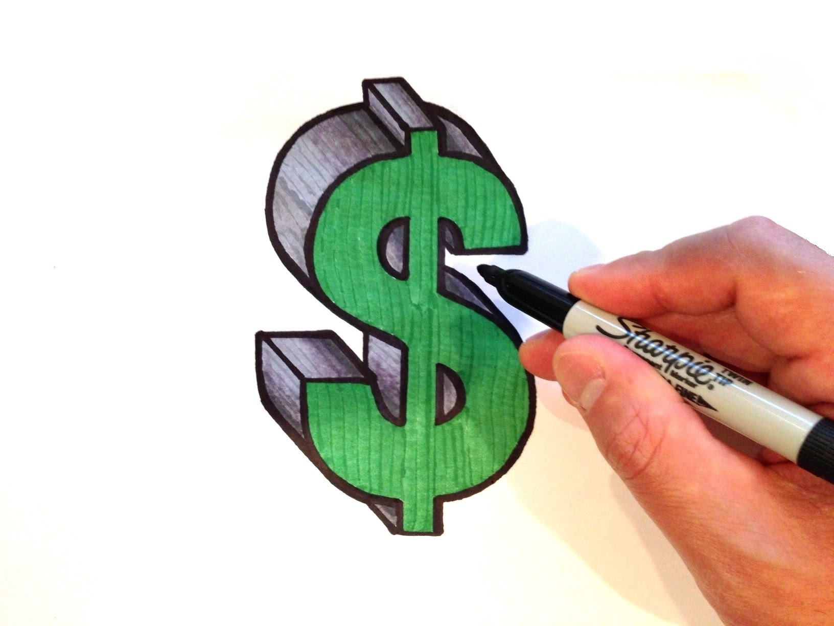 Drawn symbol drawing To Dollar YouTube in How