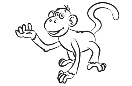 Drawn monkey Draw 0 A  Of