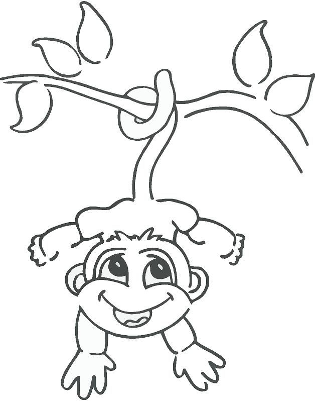 Drawn monkey Hanging drawings Monkey Drawing ideas