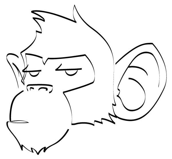 Drawn monkey Monkeys drawings on Fire ideas