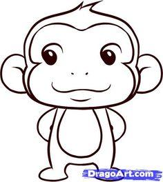 Drawn monkey Cartoon to Draw step to