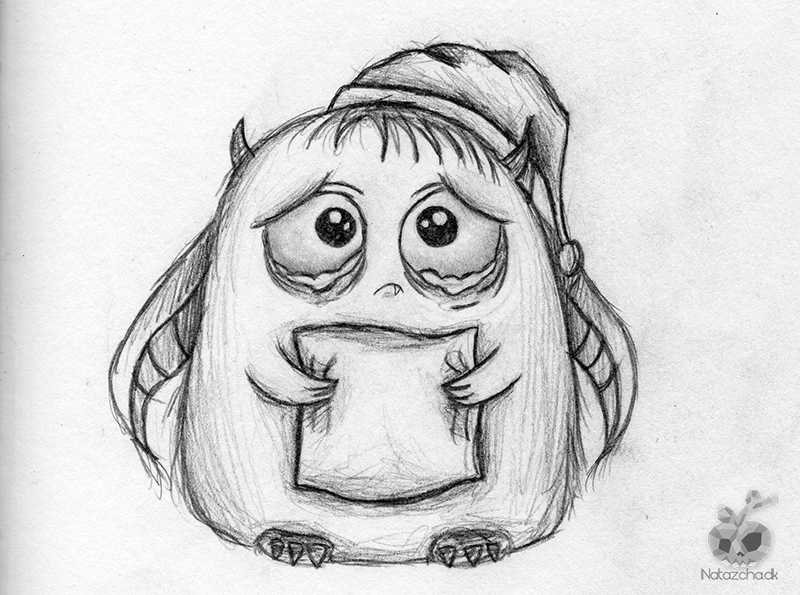 Drawn monster Monster  Pinterest sad drawings