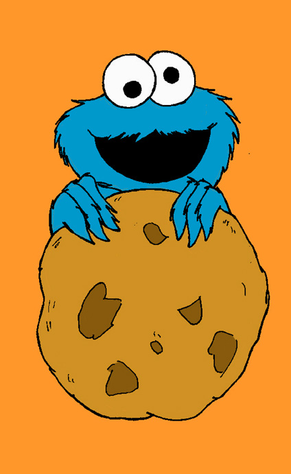 Cookie Monster clipart drawn #3
