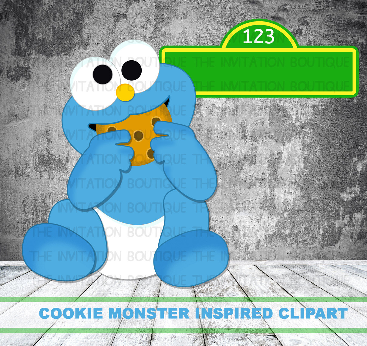 Cookie Monster clipart drawn #4