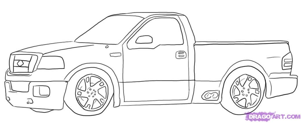 Drawn truck ford truck Drawing Free Clip  by