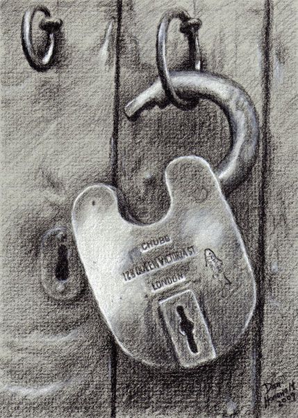 Drawn amd charcoal  Best Pinterest 25+ Lock