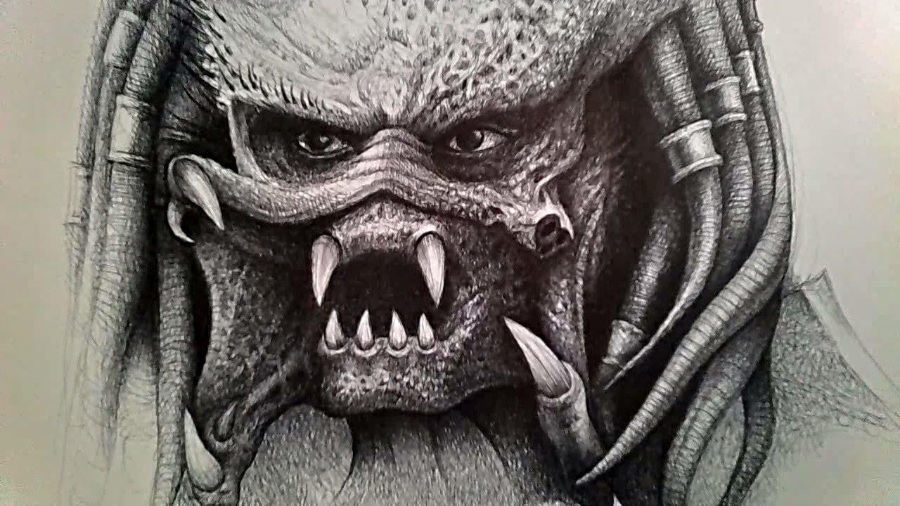 Drawn predator sci fi 2 PREDATOR Sketching sci fi
