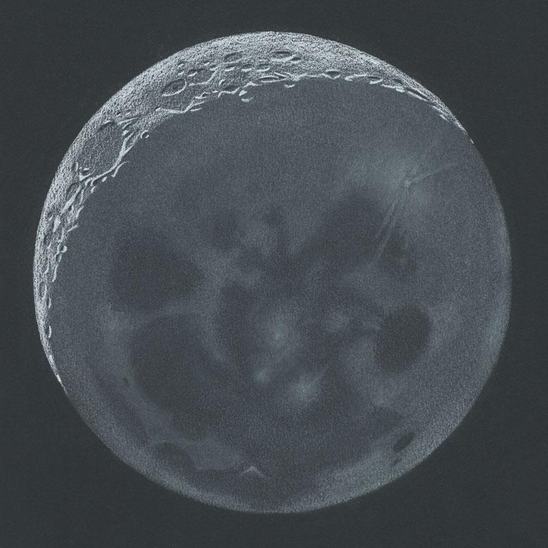 Drawn moon Earthshine Sketch Belt  Moon