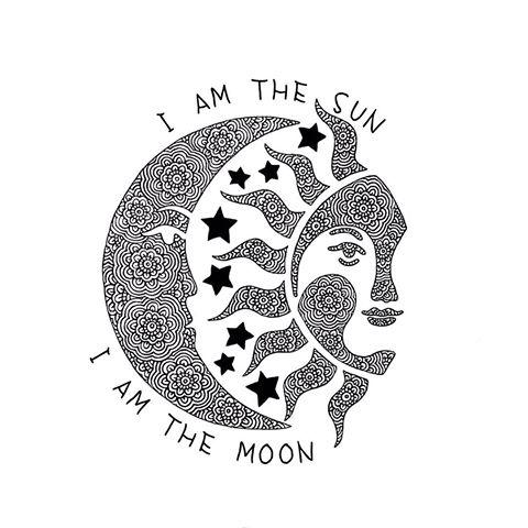 Drawn moon I  the am