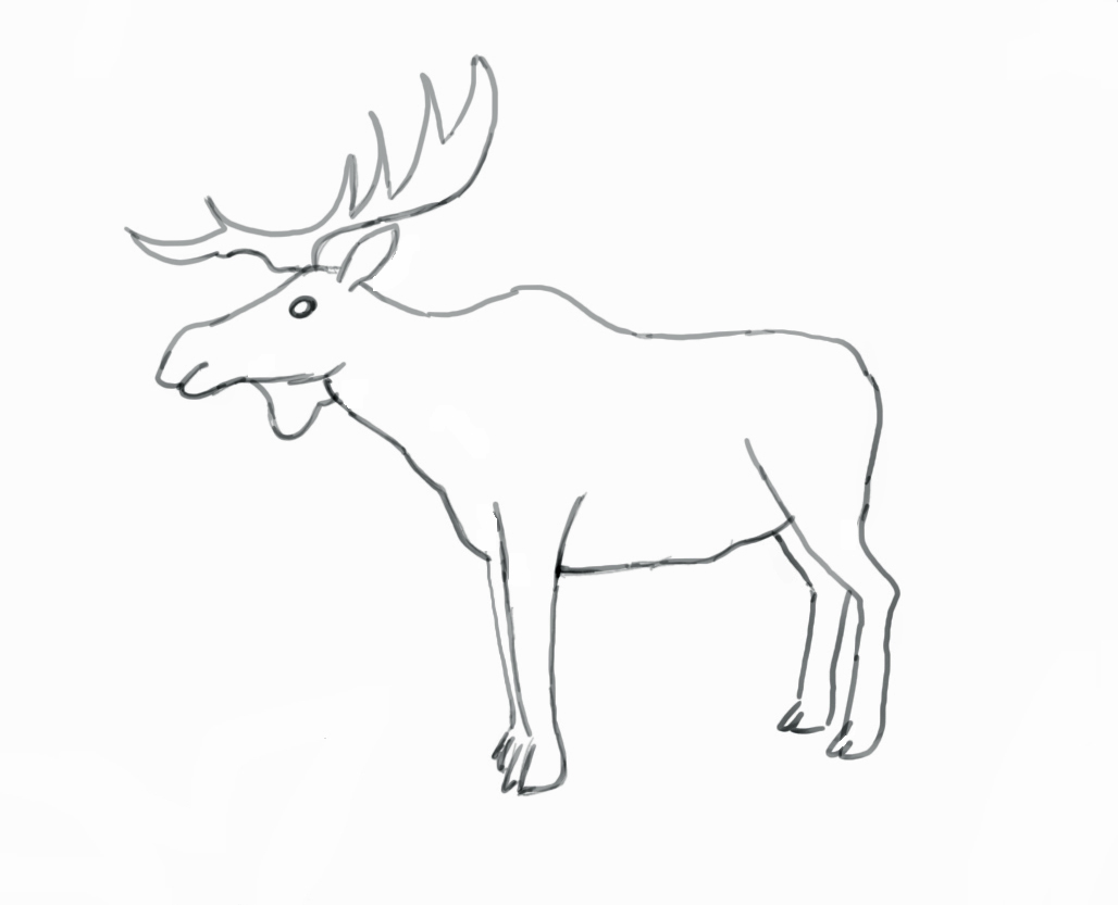Drawn moose To How Draw Use Moose