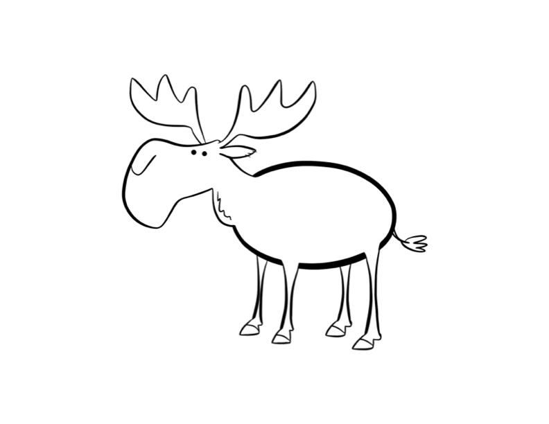 Drawn moose Drawing Photo Moose Moose Art