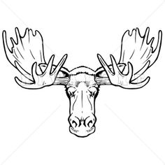 Drawn moose Moose Alphabet by drawings For
