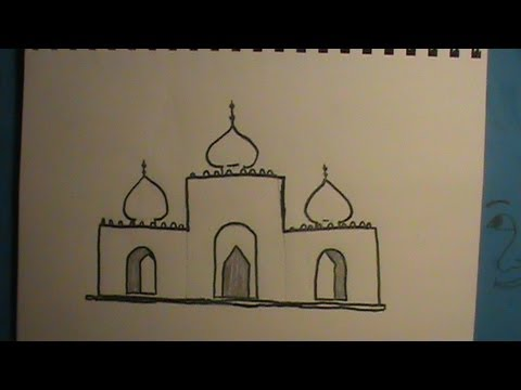 Drawn mosque YouTube Draw How to Mosque