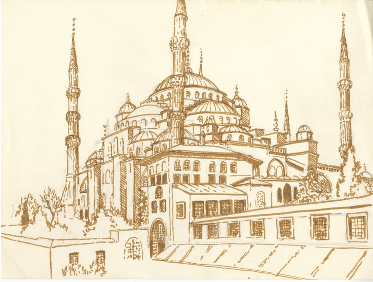 Drawn mosque Mosque Mosque Drawing Realistic Images