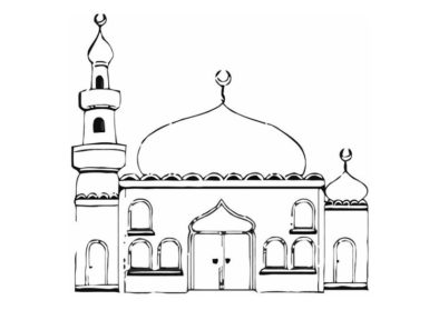Drawn mosque Drawing Mosque Realistic Art Images