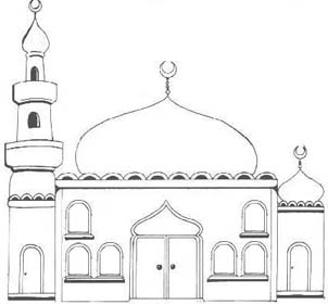 Drawn mosque Projects and Ramadan Activities 99