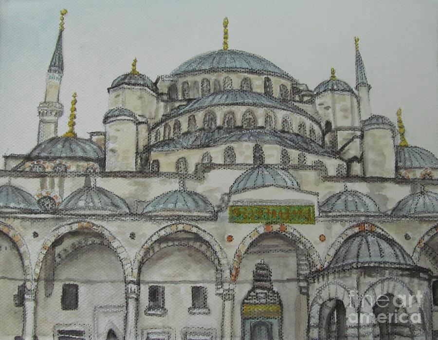 Drawn mosque And Pinterest blue mosque mosque