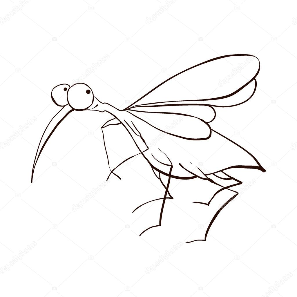 Drawn mosquito #102818812 character — Stock on