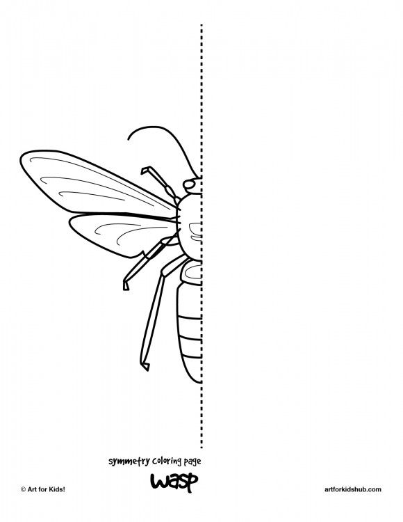 Drawn bug artistic 25+ Free Hub Coloring Insect
