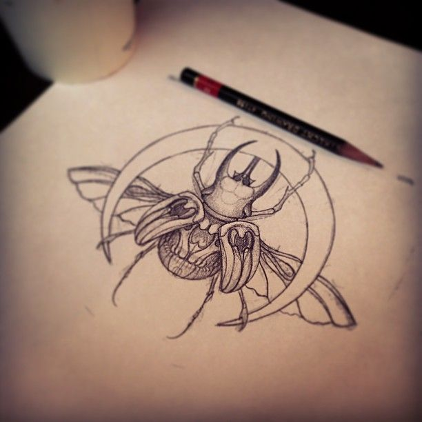 Drawn bugs dotwork Scarab on Pinterest eu Best